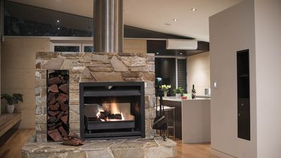 Fireplace with free firwood from May until October