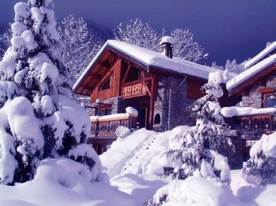 Picturesque Chalet in Deep Snow