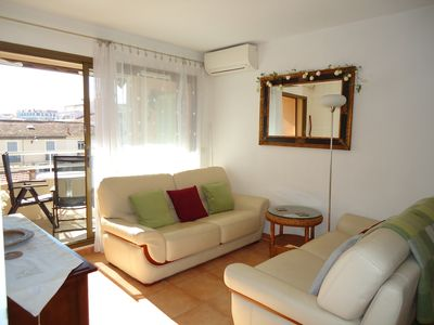 Photo for Lovely apt near Old Antibes, Port and beach with sunny balcony, WiFi, air con