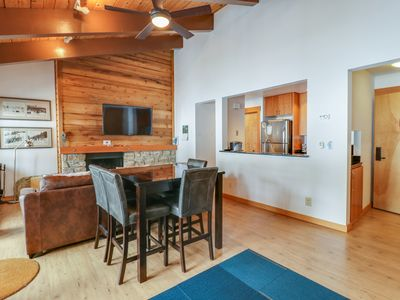 Photo for Two studios w/ shared pool, hot tub, gym & tennis - close to skiing & lake!