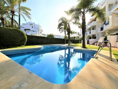 Photo for Large apartment with Private Roof Terrace and Pool, 10 minute walk to Puerto Banus marina