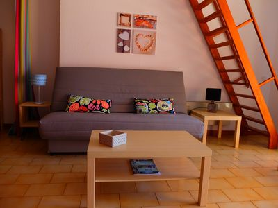 Photo for LARGE STUDIO - TERRACE - BEACH 50 M - SHOPS AND RESTAURANTS NEARBY.