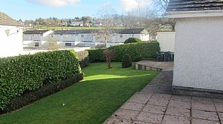 Large garden and patio area
