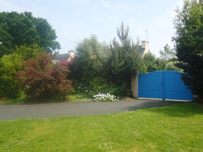 Photo for New house in enclosed garden, 656 feet away from the beach (coz fouesnantcap)