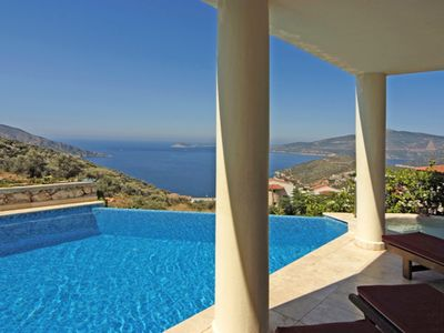 Photo for Luxury secluded Villa with stunning panoramic view of Kalkan Bay and mountains