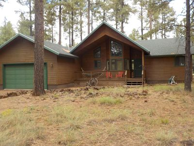 Photo for SPECTACULAR SECLUDED CABIN NESTLED IN THE PINES ON 4 ACRES. PINETOP COUNTRY CLUB