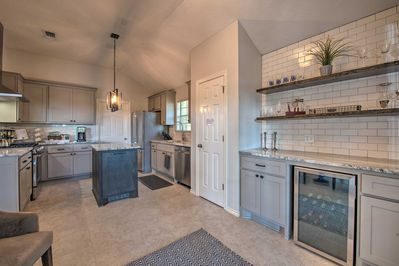 The property features a brand-new kitchen with high-end furnishings.