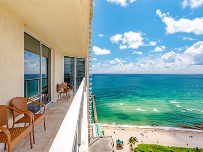 Photo for OCEANFRONT LUXURY! CORNER UNIT - MODERN DECOR - FLOOR TO CEILING WINDOWS - WOW!