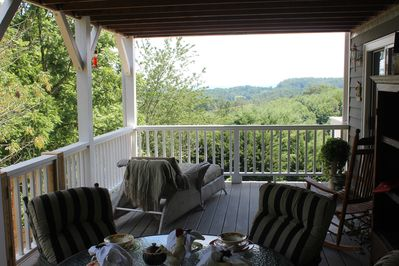 Enjoy the scenery on your private second floor deck