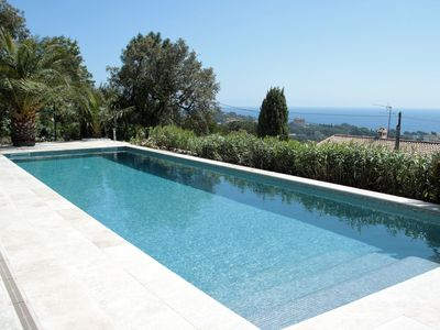 Photo for SUPERB VILLA (220m2), SEA AND VIEW BETWEEN ST MAXIME AND ISSAMBRES