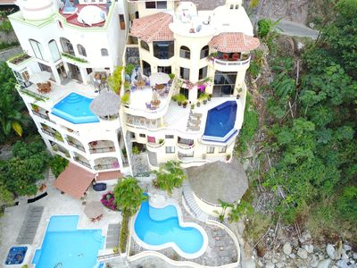 Photo for Ocean Front 6-Story Villa  2 Pools Stunning Views Full Staff- International Chef
