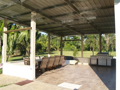 recreation area with BBQ