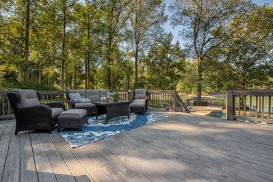 An abundance of deck and outdoor living areas