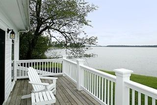 Enjoy Expansive Water Views from the Master Bedroom Deck