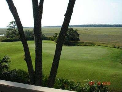 Beautiful marsh view from the deck