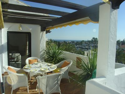 Photo for Penthouse - Walk to Restaurants, Beach and Banus,  Large Terrace, Sea View, Wifi