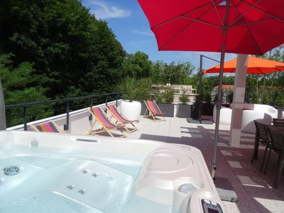 Photo for NEW: DAX HOUSE ON THE ROOF 142m2 - 8 PEOPLE - TERRACE 120m2 WITH SPA