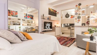 Photo for Be Apartment - Quiet and pleasant luxury loft located in an elegant building with careful decoration. 1 bedroom and 1 bathroom. Located in the heart of the city of Madrid.