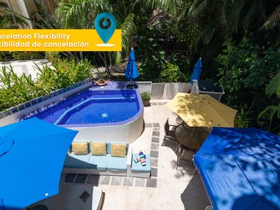 Photo for UNIQUE HOUSE WITH 2 PRIVATE POOL, BBQ, PKG / 3 minutes from the beach