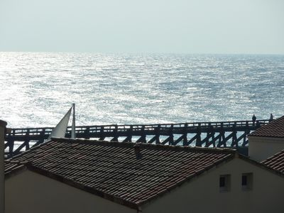 Photo for Apartment T2, Capbreton Hossegor, sea view, on the beach, Gde south terrace.