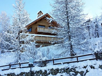 Photo for In chalet of 2014 in Allos village, apartment 3 rooms, 50m2 Garden level