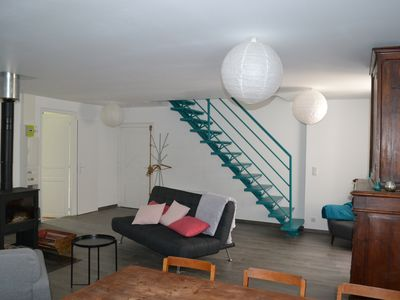 Photo for Bielle, apartment with garden and garage