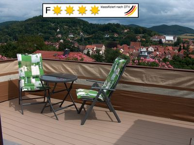 Photo for New 4-star apartment in Schmalkalden: top view, winter garden & roof terrace