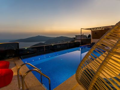 Photo for Brand New 1 Bedroom Villa with Secluded Infinity Pool and Great Sea Views