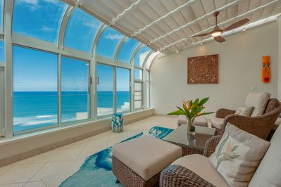 Atrium and ocean view