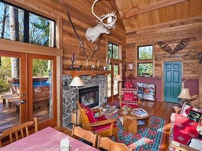 Photo for Vacation home 44MBR Rustic Cabin with a Hot Tub in Mount Baker/Glacier - 8 persons, 3 bedrooms