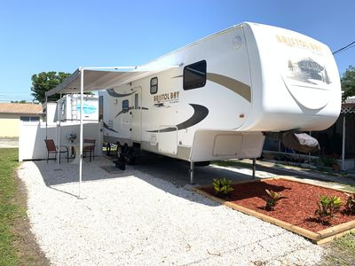 Photo for Pet-friendly RV 10 min to BEACH. Lakeview Park