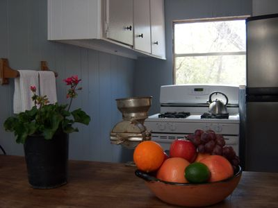Kitchen Stove & Plenty of Counter Space to Prepare Meals.