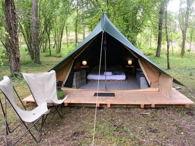 Photo for Camping Huttopia Lanmary *** - Bonaventure Tent 1 Room 2 People