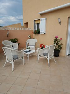 Photo for very beautiful ground floor of 37 m² with terrace of 100 m², 700 m from the sea