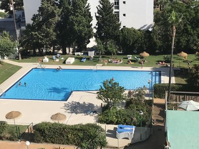 Photo for Two bedroom apartment plus sofa bed in lounge in the heart of Benalmadena
