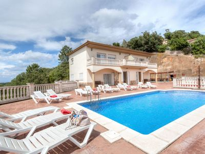 Photo for This 8-bedroom villa for up to 12 guests is located in Lloret De Mar and has a private swimming pool
