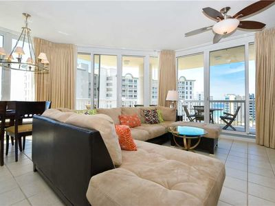 Photo for Spacious end condo w/beach views from private balcony! 🌊