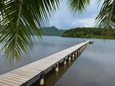 "Photo for Your ""Tiare"" Villa + Car + Boat in Huahine"