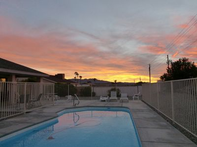 Another gorgeous sunset over the pool. Ahhh!
