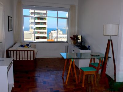 Photo for Lovely, partial sea view, perfect location between Ipanema & Copacabana Beaches!