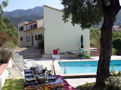 Photo for large villa with pool and beautiful view on the Canigou mountain.