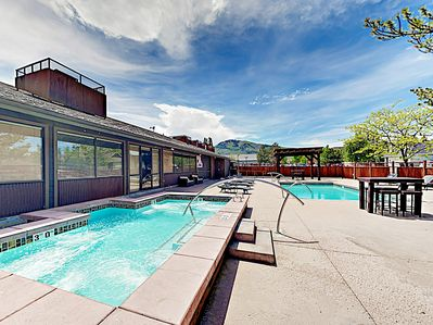 Pool - The seasonal pool and year-round spa are steps from your door.