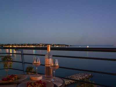 Photo for 'La Caravelle', seafront, top floor  panoramic view, balcony A/C