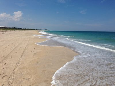 Our beach..pristine blue waters and never crowded.