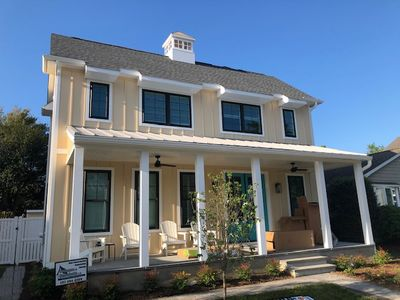 Photo for ** Wow, Wow! ** - New Home 2020, L Shaped Home, Large Heated Pool, 5 BR, 5.5 Bath, 3 Blks to Beach, Includes Sheets & Towels