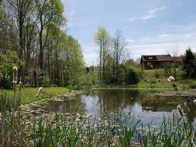 Photo for Real Log Home. 70 Acres, Fishing Pond, Hot Tub, WIFI, Firepit, Smart TV's, Clean