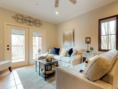 Photo for Riverfront condo, free WiFi, shared pool & walking distance to Gruene Hall