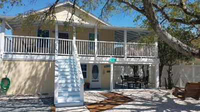 Photo for Nestled between the BEACH & BANKS CHANNEL- walk to PIER, RESTAURANTS & GROCERY!