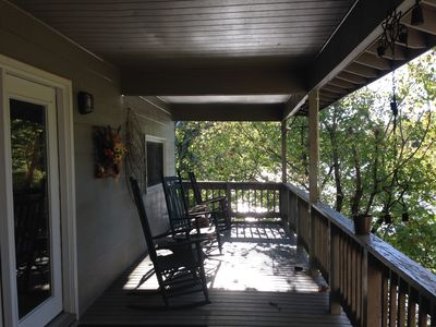 Photo for Secluded cabin on river, creek, 8 1/2 ac.  Winter:  4 Max. Guests, 2 Night Min.