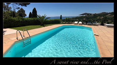 Photo for Villa breathtaking view of Baie du St Tropez. Free WIFI, Privacy, Swimming Pool.